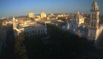 Panorámica de Veracruz; frente frío 30 provoca bajas temperaturas en México