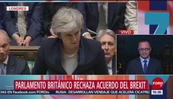 Parlamento Británico rechaza el Brexit