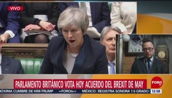 Parlamento británico vota acuerdo de May sobre el Brexit