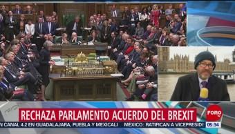 Parlamento rechaza acuerdo del Brexit