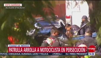 Foto: Patrulla arrolla a motociclista