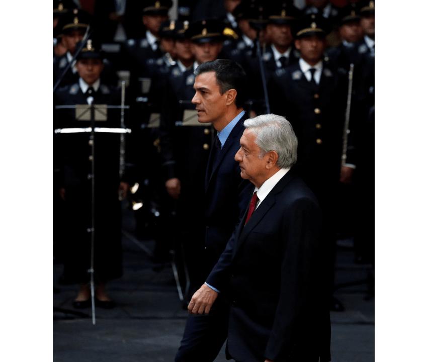Foto: El presidente de España, Pedro Sánchez, y López Obrador. 30 de enero 2019, Palacio Nacional, Ciudad de México