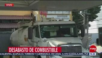 Pipas de abastecimiento llegan a gasolinera en Tlalpan