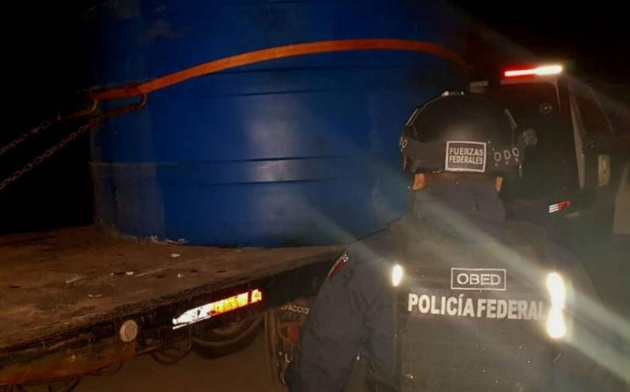 Aseguran contenedores enterrados con 33 mil litros de hidrocarburo en Progreso, Hidalgo
