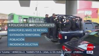 Policías aplican estrategia de seguridad por cuadrantes