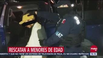Policías Federales Y Del Fbi Rescatan En Edomex A Dos Menores Secuestrados, Policías Federales, Fbi, Edomex, Dos Menores Secuestrados, Estados De México