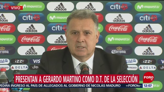 Presentan a Gerardo 'Tata' Martino como nuevo DT de la Selección Mexicana