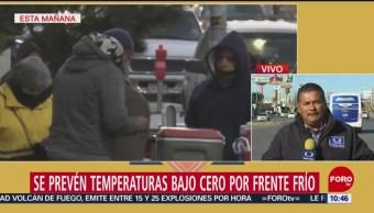 Prevén temperaturas bajo cero en Chihuahua por frente frío