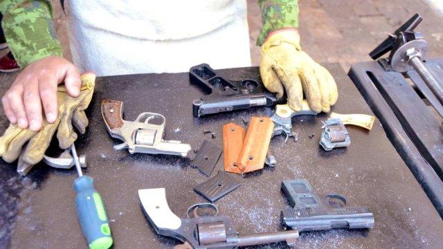 armas entregadas cdmx, programa de desarme, Twitter, 24 enero 2019