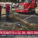 Protestan por desabasto de gasolina cierran Ignacio Zaragoza, en Iztapalapa