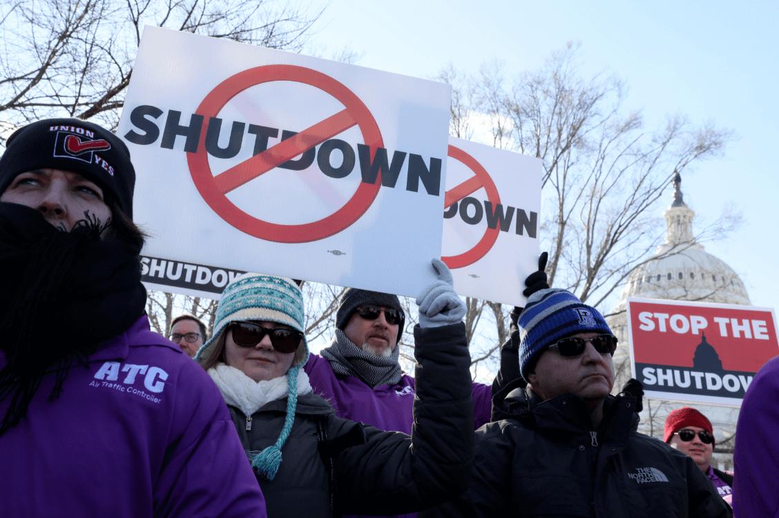 Foto: Protestas contra cierre de gobierno en Estados Unidos. 10 enero 2019, Washington, Estados Unidos