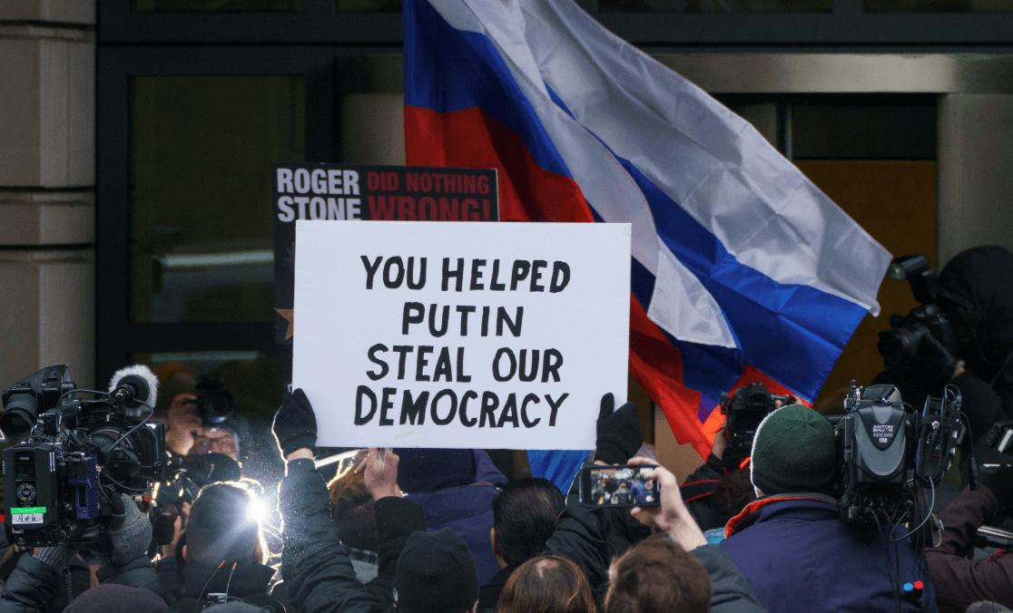 Foto: Protestas contra Roger Stone,exasesor de Donald Trump, 29 de enero 2019, Washington, Estados Unidos