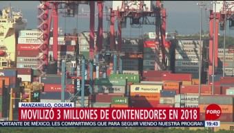 Puerto De Manzanillo Movilizó 3 Millones Contenedores 2018