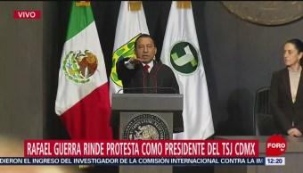 Rafael Guerra rinde protesta como presidente del Tribunal de Justicia CDMX