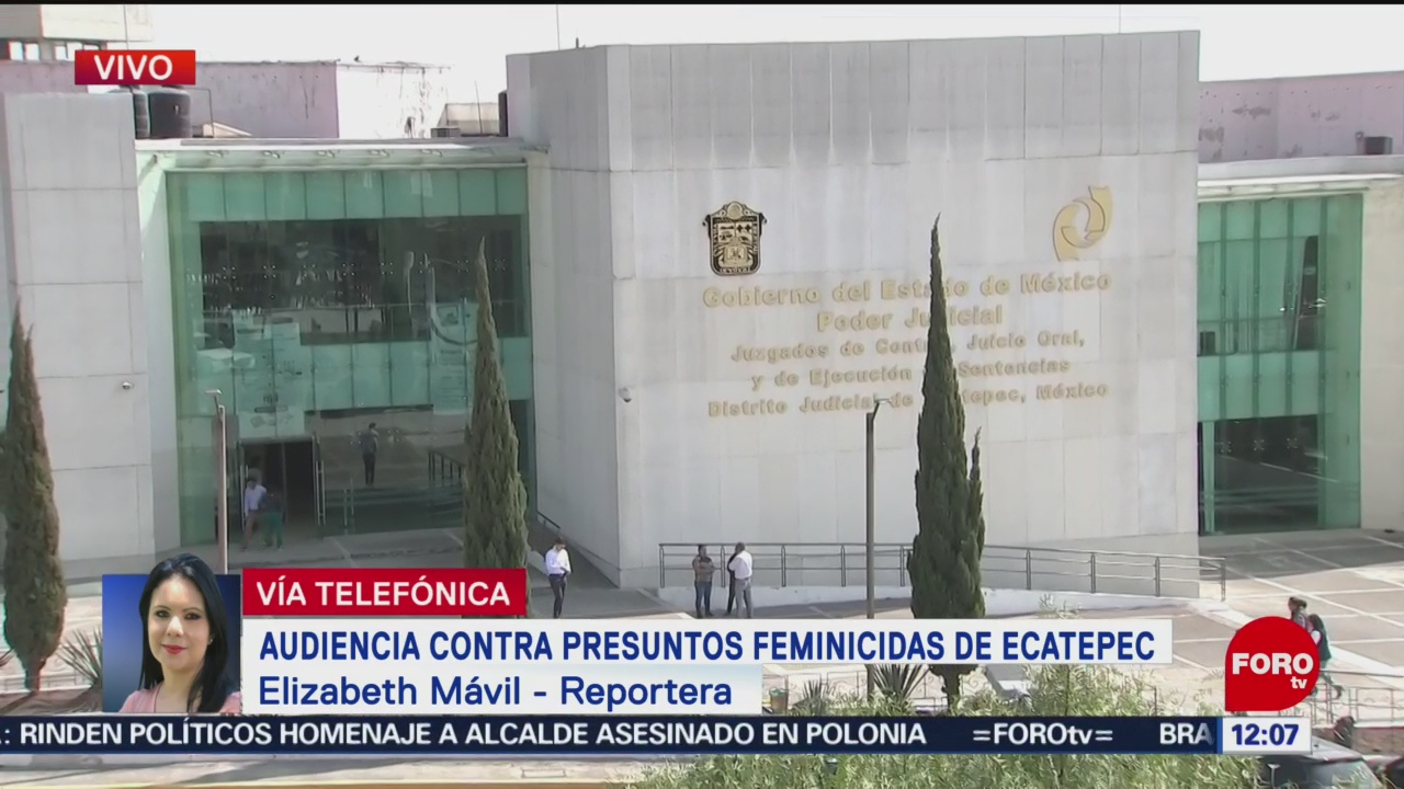 Realizan audiencia contra feminicidas de Ecatepec