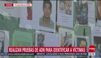 Realizan pruebas de ADN para identificar a víctimas de Tlahuelilpan