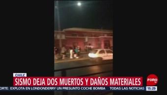 Reportan 2 muertos por paros cardiorespiratorios tras sismo en Chile