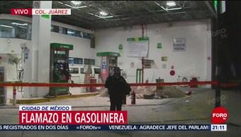 Foto: flamazo en gasolinera de CDMX23 de enero 2019