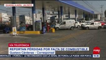 Reportan perdidas por falta de combustible en Jalisco