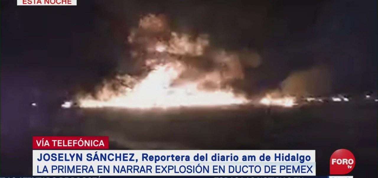 Reportera Narra Momento Explosión Ducto Pemex Hidalgo