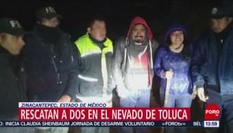 Rescatan a dos personas en el Nevado de Toluca