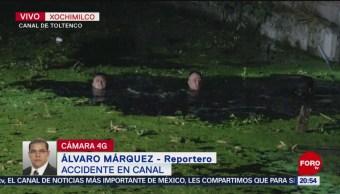 Rescatista Buscan Hombre Cayó Canal Aguas Negras Xochimilco