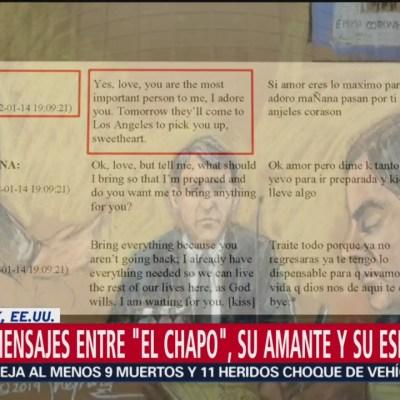 Revelan mensajes entre 'El Chapo', su amante y su esposa
