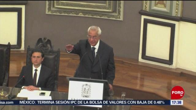 Rinde protesta gobernador interino de Puebla