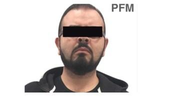 Foto: Detienen a Rodrigo Vallejo, hijo del exgobernador de Michoacán, Fausto Vallejo, México, enero 26 de 2019 (Twitter: @FGRMexico)