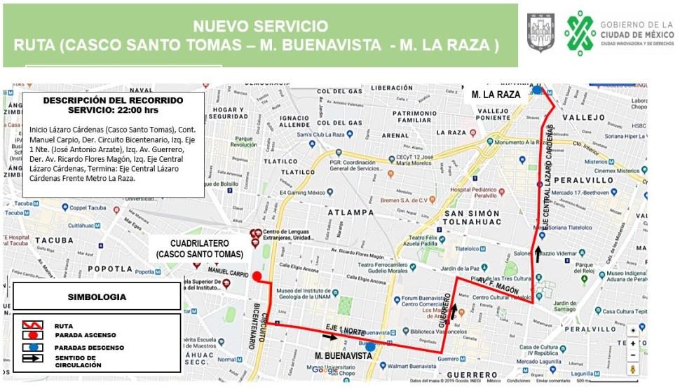 foto ruta transporte rtp 29 enero 2019