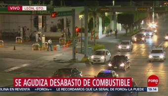Se agudiza desabasto de combustible en León, Guanajuato