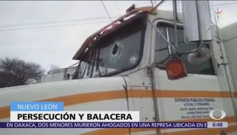 Se desata persecución kilométrica por robo en Nuevo León