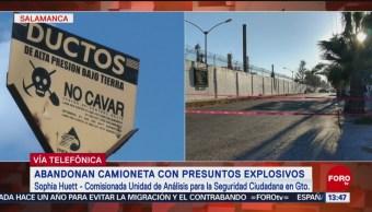 Foto: Se investiga camioneta con artefacto en Guanajuato