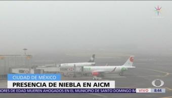 Se reanudan operaciones en el AICM tras banco de niebla