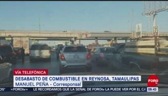 Se registra sobredemanda de gasolina en Reynosa, Tamaulipas