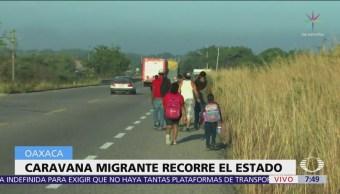 Segunda caravana migrante avanza hacia a Zanatepec
