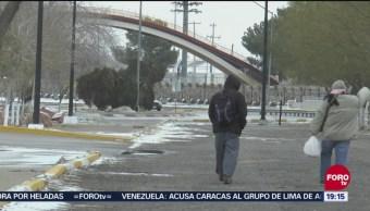 Siguen las bajas temperaturas en Chihuahua