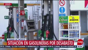 Situación en gasolineras por desabasto en CDMX