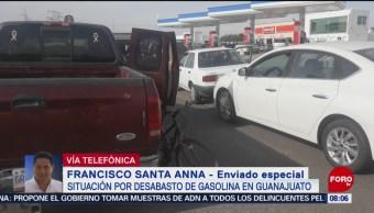 Situación por desabasto de gasolina en Guanajuato
