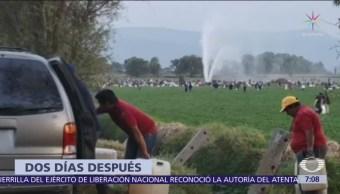 Soldados llegaron a Tlahuelilpan antes de la explosión