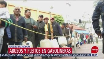 Surgen casos de abusos y pleitos en gasolineras de la CDMX