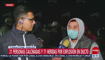 Testigo Narra Cómo Saqueaban Combustible Explosión Toma Clandestina