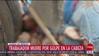 Trabajador muere por golpe en la cabeza en la CDMX