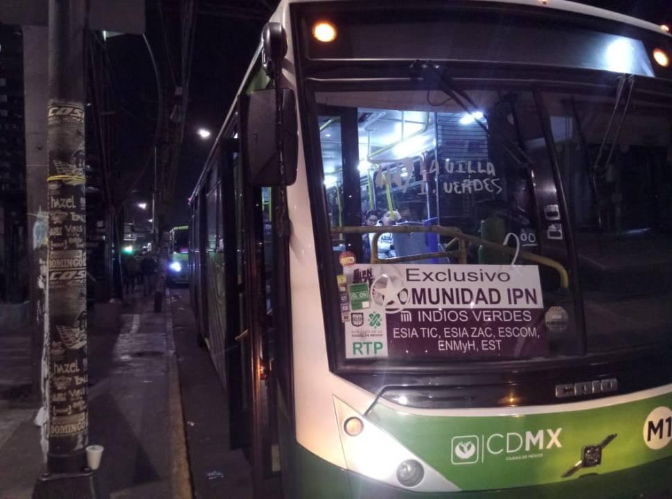 foto transporte sendero seguro ipn rtp 29 enero 2019