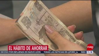 Tres de cada 10 mexicanos tienen el hábito del ahorro