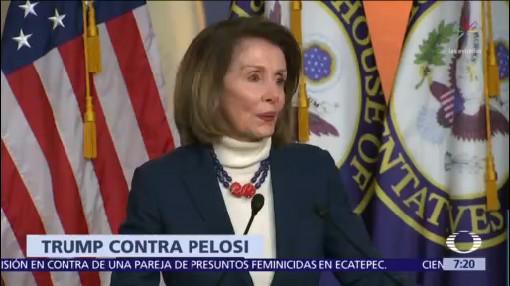 Trump cancela vuelo oficial a Nancy Pelosi