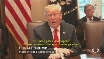 Trump Confirma Uso De Gas Lacrimógeno Contra Migrantes, Donald Trump, Uso De Gas Lacrimógeno, Migrantes, Frontera México-Estados Unidos, Migrantes Centroamericanos