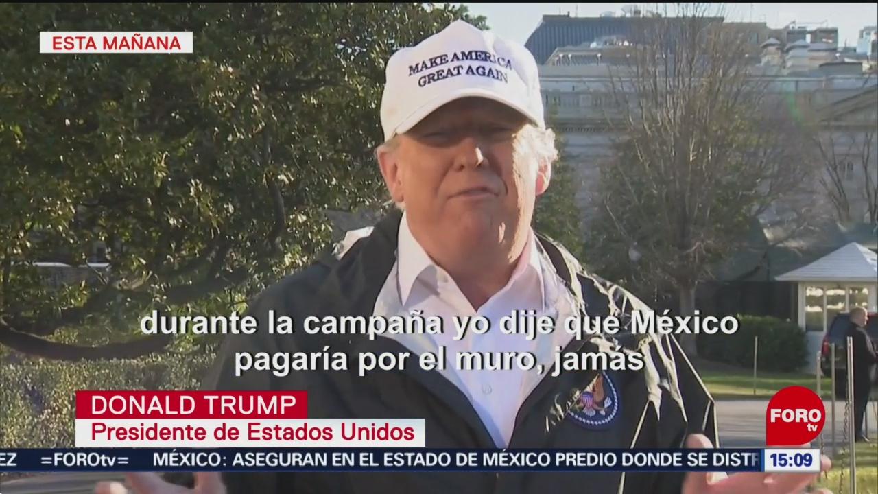 Trump insiste en construcción de muro fronterizo