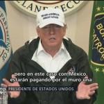 Trump insiste en que México paga por el muro, pero no con un cheque