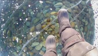 Caminata Sobre El Congelado Lago Baikal